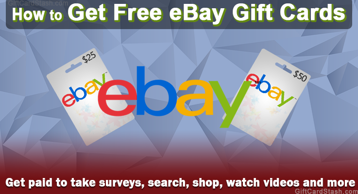 learn how to get free ebay gift cards