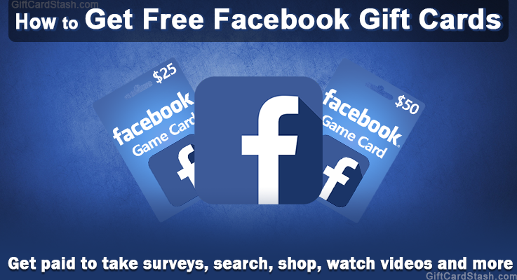 learn how to get free facebook gift cards