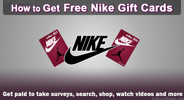how to get free nike gift cards