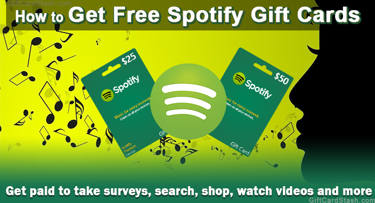 how to get free spotify gift cards